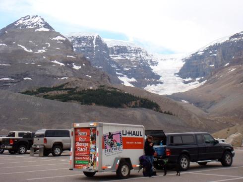 Mollie, Hershey, Athabasca Glacier